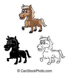 Coloring book Horse Baby caracter