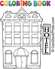 Coloring book hotel theme 1