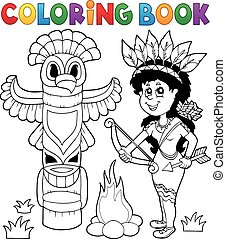 Coloring book Indian theme image 4