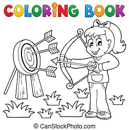 Coloring book kids play theme 3 - eps10 vector illustration.