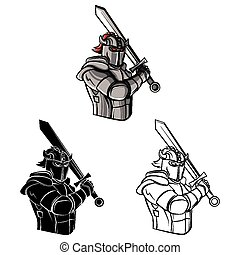 Coloring book Knight character