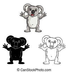 Coloring book Koala Smile caracter