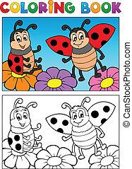 Coloring book ladybug theme 2