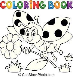 Coloring book ladybug theme 4