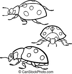 Coloring book: Ladybugs set