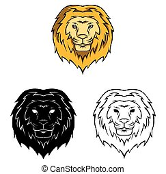 Coloring book lion character