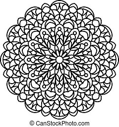 Coloring Book Mandala. - Mandala outline. Line mandala...