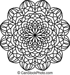 Coloring Book Mandala. - Line mandala isolated on white...