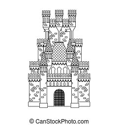 Coloring book: medieval castle