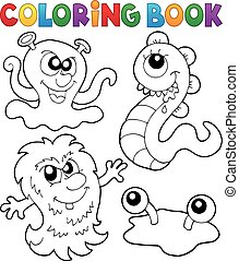 Coloring book monster theme 3