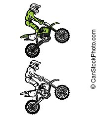 Coloring book Moto Cross character - Coloring book Moto...