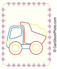 Coloring Book Of Big Toy Dump Truck