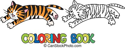 Coloring book of funny wild  tiger