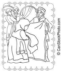 Coloring Book Of Prince Peasant Woman Yarn