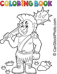 Coloring book orc theme 1