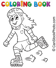 Coloring book outdoor sport theme 1 - eps10 vector...