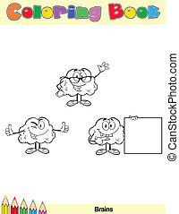 Coloring Book Page Brain