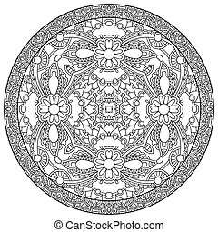 coloring book page for adults - zendala, joy to older children