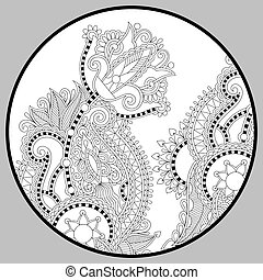 coloring book page for adults - zendala, joy to older ...