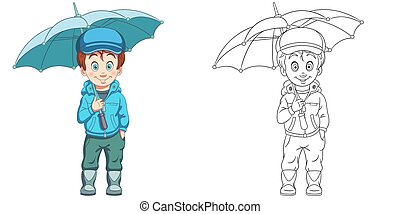 Coloring book page for kids