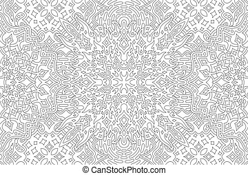 Coloring book page with starry linear pattern - Beautiful ...