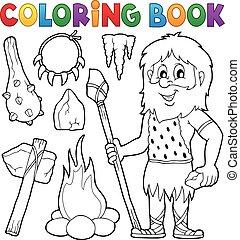 Coloring book prehistoric
