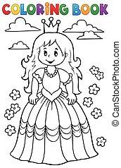Coloring book princess theme 3