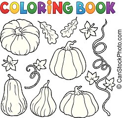 Coloring book pumpkins collection 1