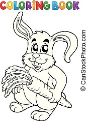 Coloring book rabbit theme 5