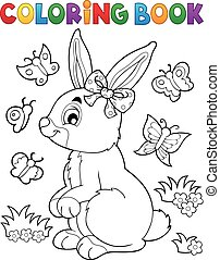 Coloring book rabbit topic 2 - Coloring book rabbit topic