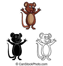 Coloring book Rat Mouse caracter