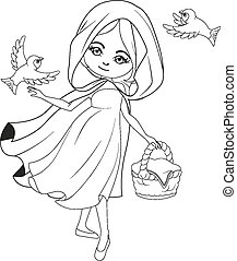 Coloring book: Red Riding hood