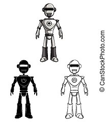 Coloring book Robot character