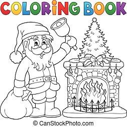 Coloring book Santa Claus thematics 1