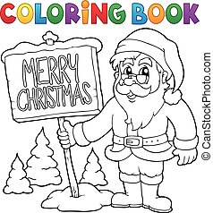 coloring book santa claus thematics 3 - Coloring Book Santa Claus