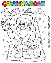Coloring book Santa Claus theme 2