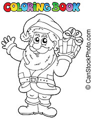Coloring book Santa Claus topic 1