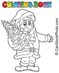 Coloring book Santa Claus topic 2