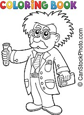 Coloring book scientist theme 1 - eps10 vector illustration.