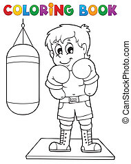 Coloring book sport and gym theme 1