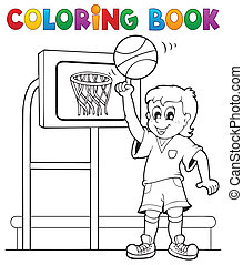 Coloring book sport and gym theme 3 - eps10 vector...