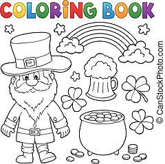 Coloring book St Patricks Day set 1 - eps10 vector ...
