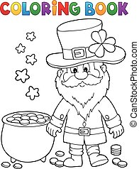 Coloring book St Patricks Day theme 2 - eps10 vector ...