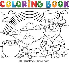 Coloring book St Patricks Day theme 3