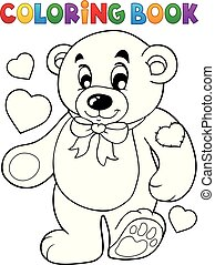 Coloring book teddy bear theme 1