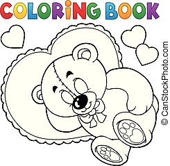 Coloring book teddy bear theme 2