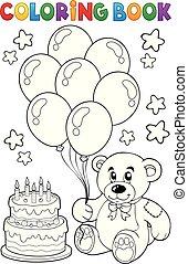 Coloring book teddy bear theme 4