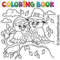 Coloring book Thanksgiving image 5 - eps10 vector...