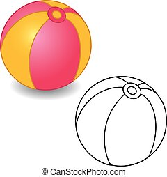Coloring Book Toy Ball