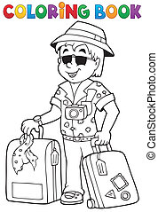 Coloring book travel thematics 1 - eps10 vector...